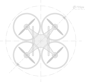 Soaring Sky Drone Graphic
